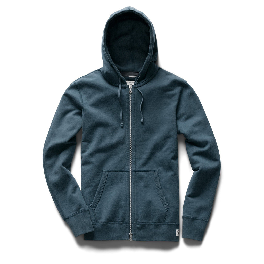 Reigning Champ Midweight Terry Full Zip Hoodie - Pacific