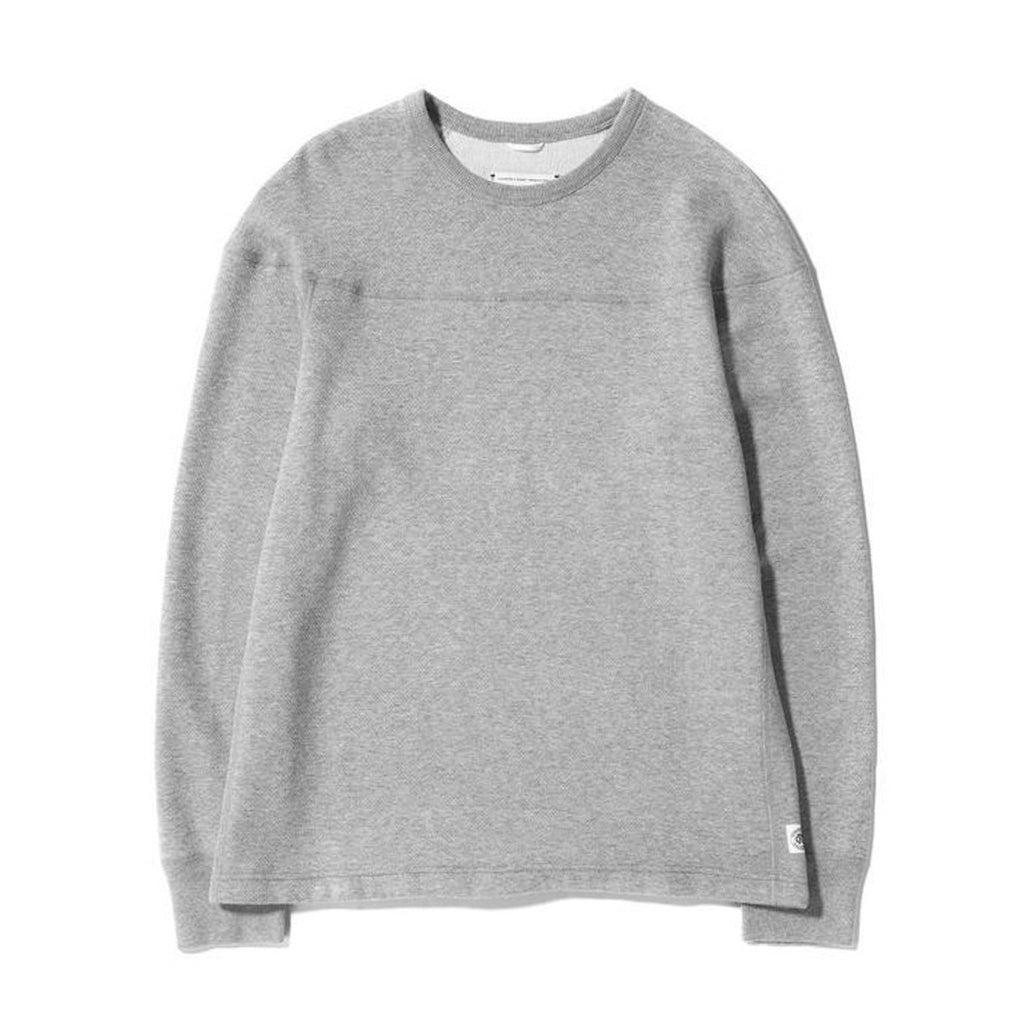 Reigning Champ Long Sleeve - Panel Mesh Double Knit - Heather Grey