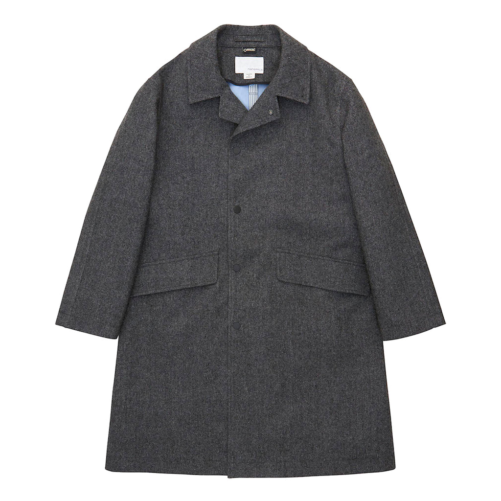 Nanamica GORE-TEX Soutien Collar Coat - Mix Grey