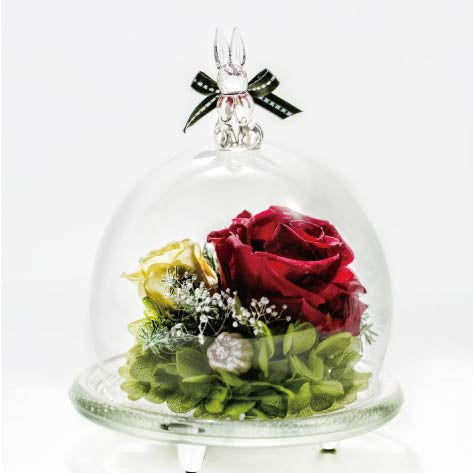 Christmas Rabbit Glass Dome