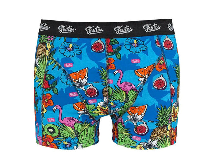 Juicy Jungle Blue Boxers Front