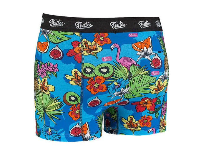 Juicy Jungle Blue Boxers Back