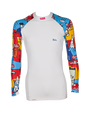 Men's print white laycra