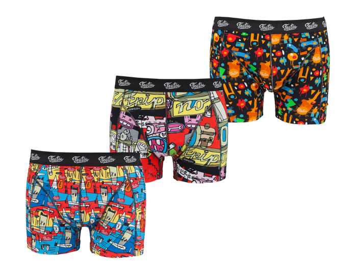 3-PACK designed boxers