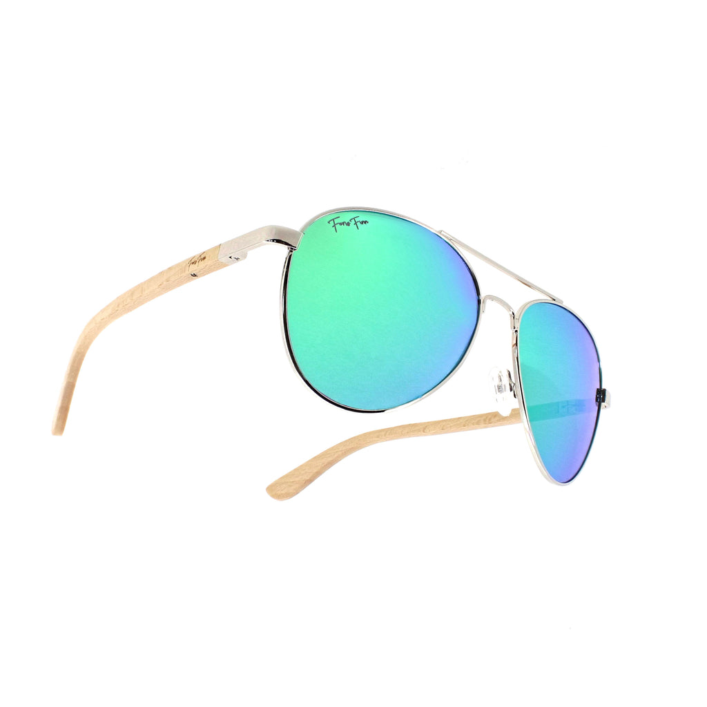 Key West - Beech Wood Sunglasses