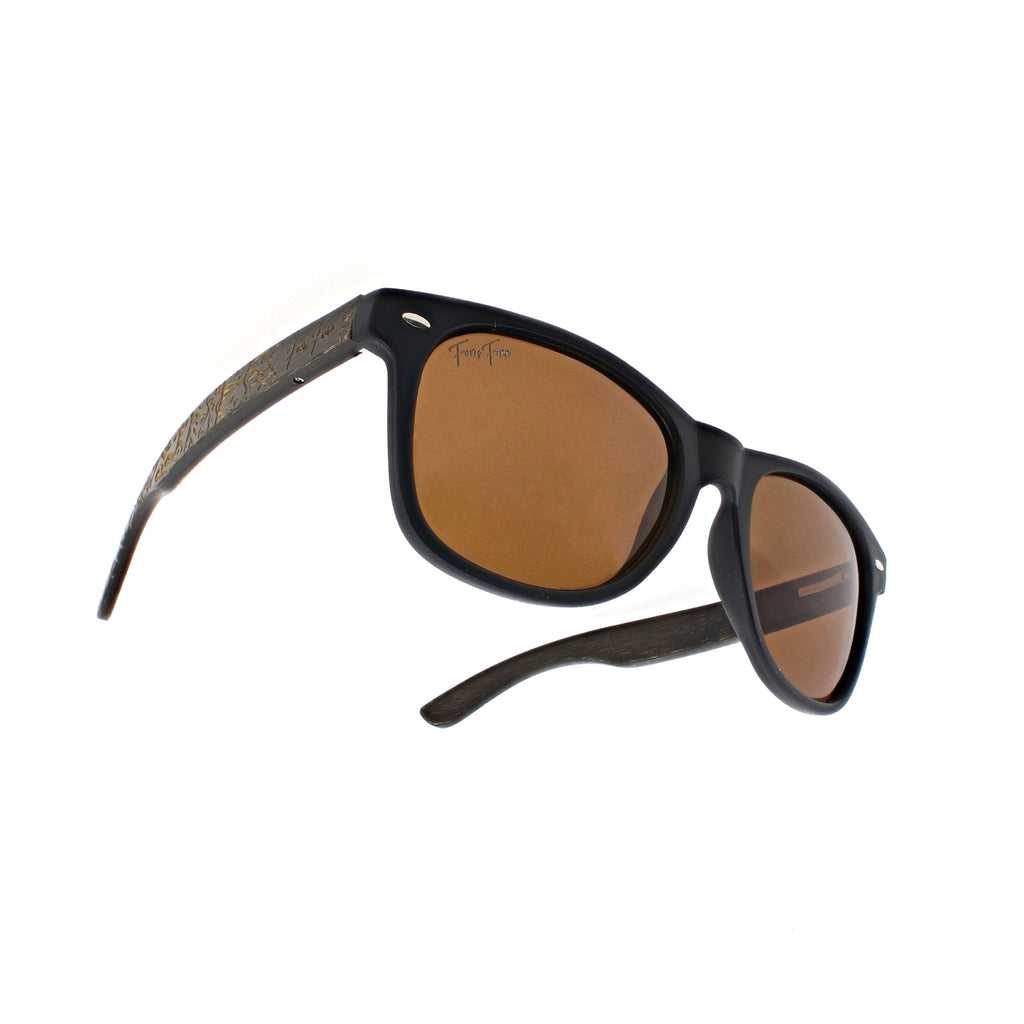 Nantucket - Brown Bamboo Wood Sunglasses