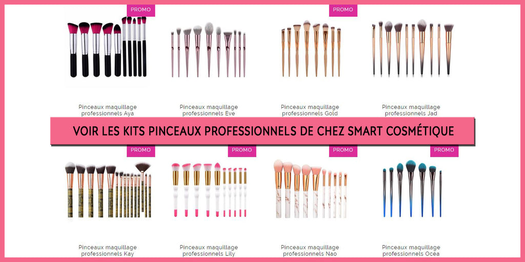Collection Pinceaux Maquillage Pro | Smart Cosmétique