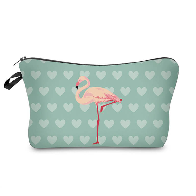 Trousse maquillage Flamant Rose <br/>Cœur