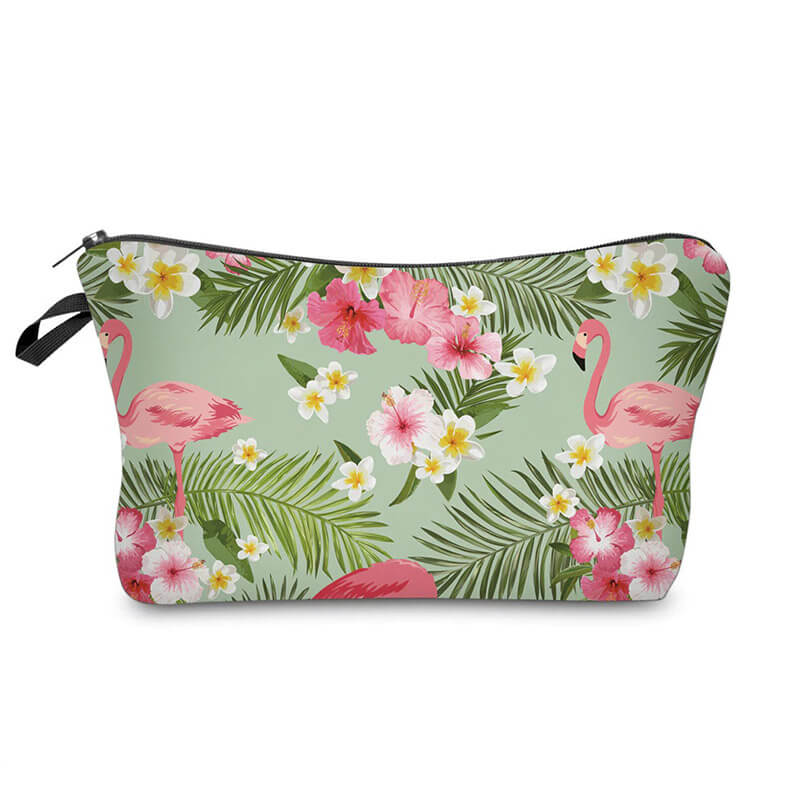 Trousse maquillage Flamant Rose <br/>Fleuri