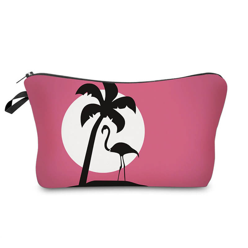 Trousse maquillage Flamant Rose <br/>Palmier