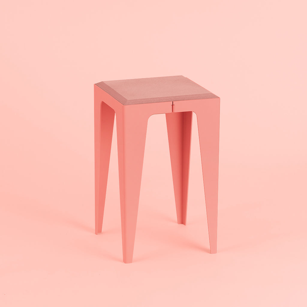 Chamfer Stool made from Neolign and powder coated steel, sustainable German design, made in europe by Wye Design/ Chamfer Hocker - Nave shop - online concept store