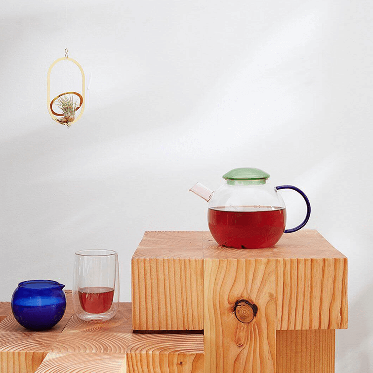 "Glass ""Bubble"" Teapot, Glas Teekanne - designed by Fundamental Berlin, Nave Shop, online concept store"