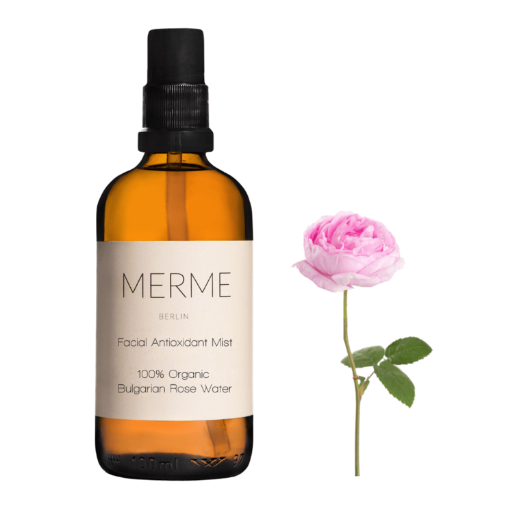 Facial Antioxidant Mist; Antioxidant Spray, Organic Bulgarian Rose Water by Merme, Nave Shop, online concept store
