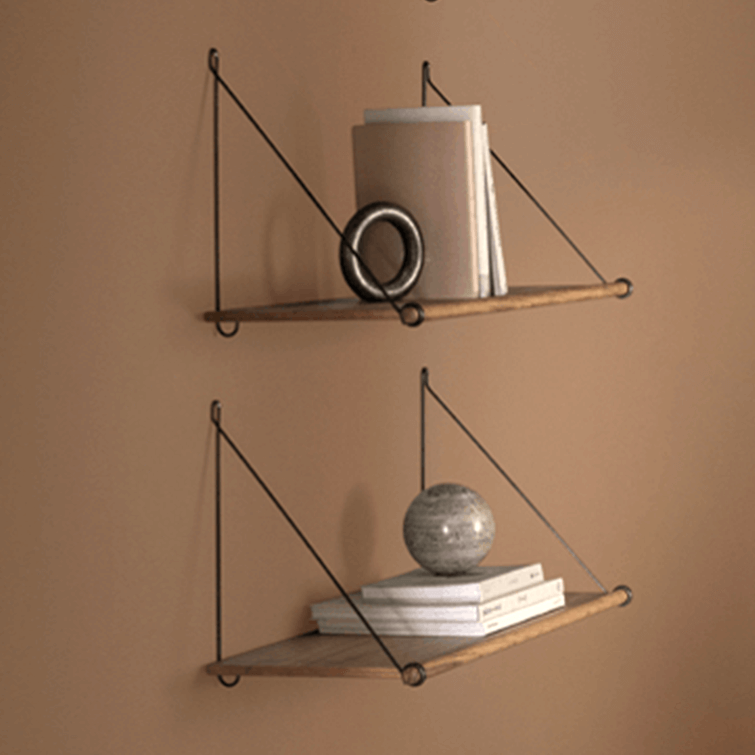 wood shelves with metal brackets, Loop Shelf Natural Bamboo by We Do Wood; Nave Shop - online concept store