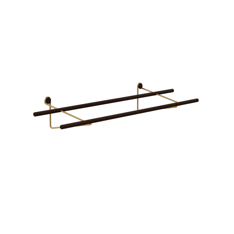 Shoe Rack, Dark Bamboo with metal brackets,  by We Do Wood_ Nave Shop