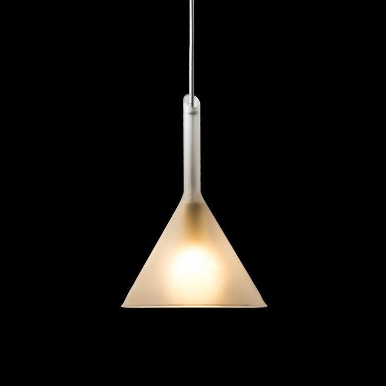 Funnel Lamp in Milk by Fundamental Berlin; Glass Lamp, Nave Shop - online concept store