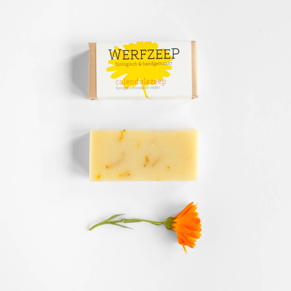 Calendular Soap Bar; plastic-free, palm oil free, handmade and organic calendular soap, Nave Shop, online concept store