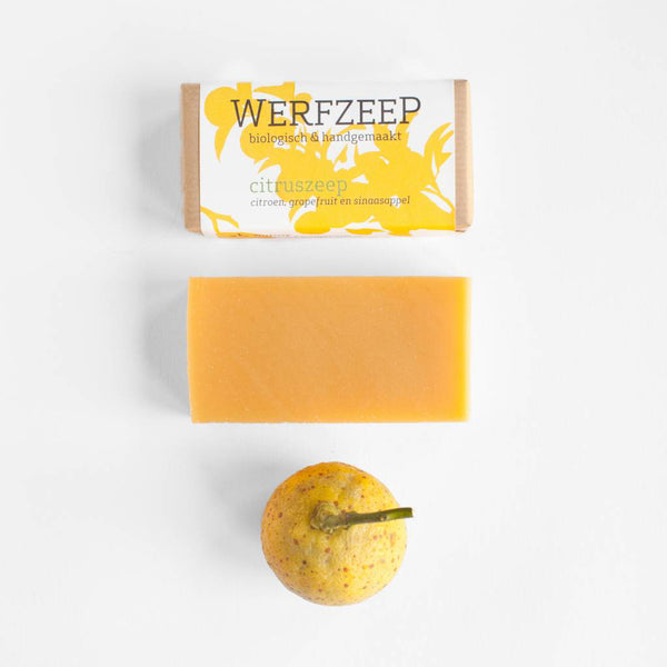 Citrus Soap Bar; plastic-free, palm oil free, handmade and organic citrus soap, Nave Shop, online concept store