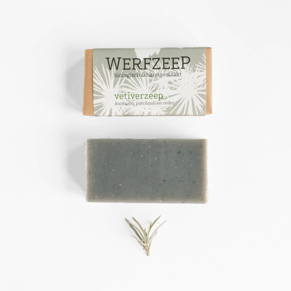 Vetiver Soap Bar;  plastic-free, palm oil free, handmade and organic soap, Nave Shop, online concept store