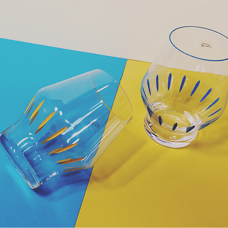 "Crystal Glas Tumblers ""Beak"" by Tomas Kral and Iris Apfel, Nude Glassware - NAVE Shop - online concept store"