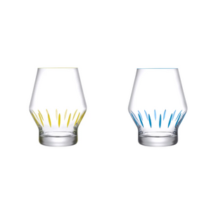 Beak Crystal Glas Tumblers Yellow and Blue - NAVE Shop - online concept store