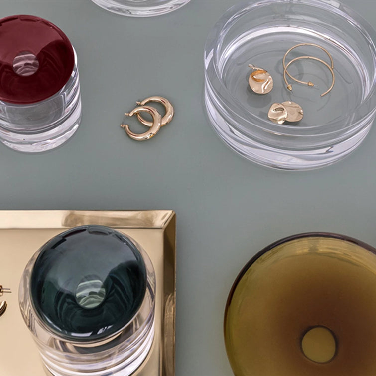 Ecrin Storage Box Large by Sebastian Herkner, Crystal Glass by Nude Glassware - NAVE Shop - online concept store