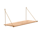 Loop Shelf Natural Bamboo with brass brackets by We Do Wood; The Nave Shop - online concept store