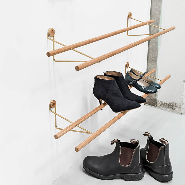 Shoe Rack Natural Bamboo