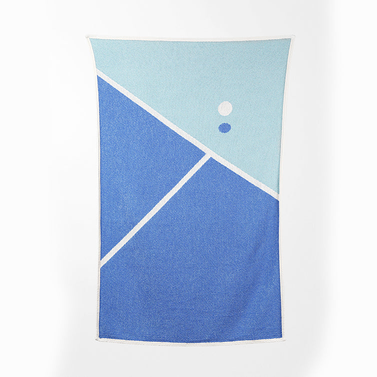 Tennis 2 Cotton Beach Towel and Blanket by Gabriel Nazoa; artist towel collection, designer towels, Nave Shop, online concept store
