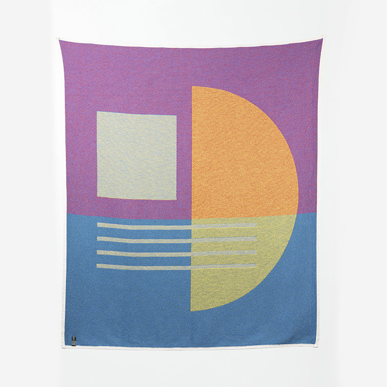 Bauhaused 7 Cotton Blanket by Sophie Probst; The Nave Shop