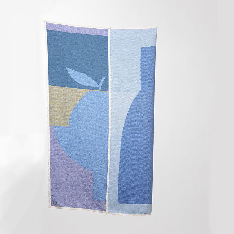 Yellow Orange Cotton Blankets & Throws by Catherine Lavoie; Nave Shop, online concept store