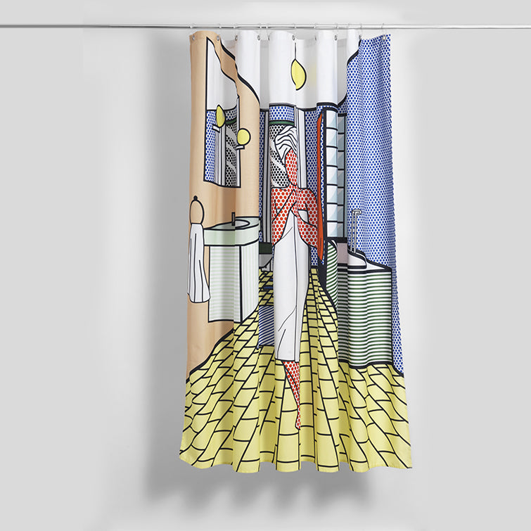Roy'Ally Clean Artist Cotton Shower Curtain; The Nave Shop
