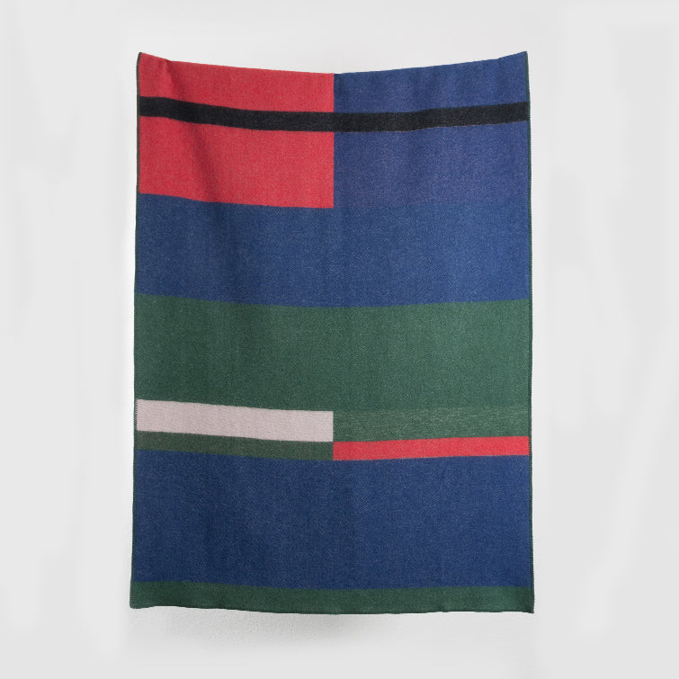 Bauhaused 1 Wool Blanket by Michele Rondelli & Sophie Probst; Designer Blankets made from New Zealand Wool, Bauhaus Design, Nave Shop, online concept store