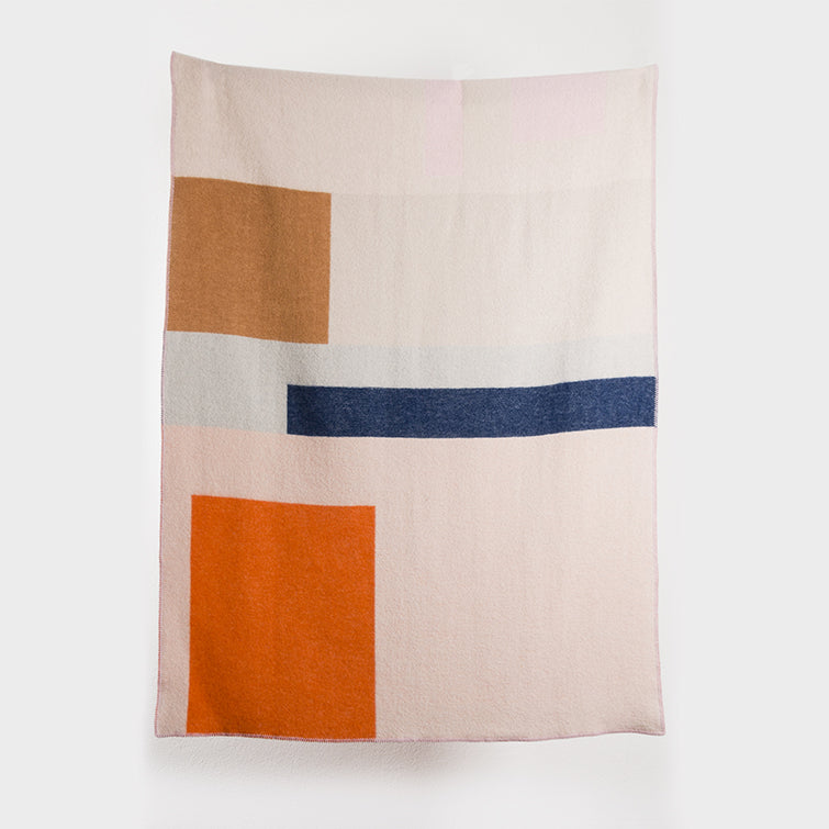 Bauhaused 2 Wool Blanket by Michele Rondelli & Sophie Probst; Designer Blankets, Bauhaus Design, New Zealand Wool, Nave Shop, online concept store