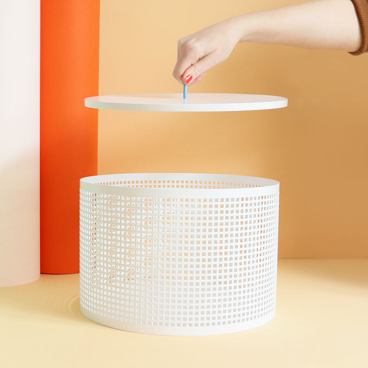 Hat and Storage Box, Boîte Metal Boxes White; by OK Design, Nave Shop, online concept store
