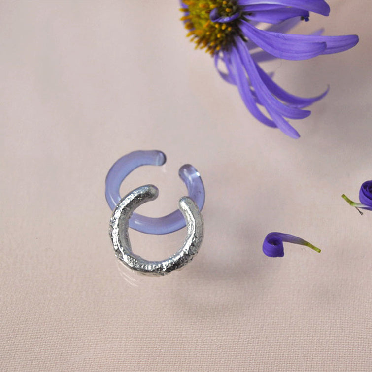 earcuff - Schmuck - Glass and Silver earcuff - NAVE shop - online concept store