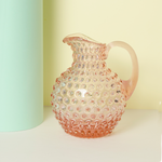 Hobnail Jug - Klimchi Glassware - Handmade in Bohemia - Rose coloured glassware - NAVE shop - online concept store