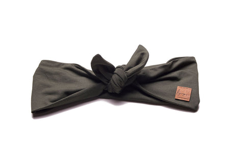 Legacy Bamboo in Army Green Tie