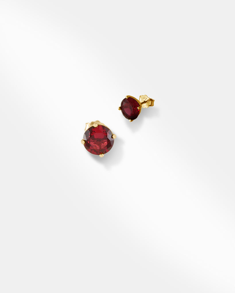Red Gemstone Earrings