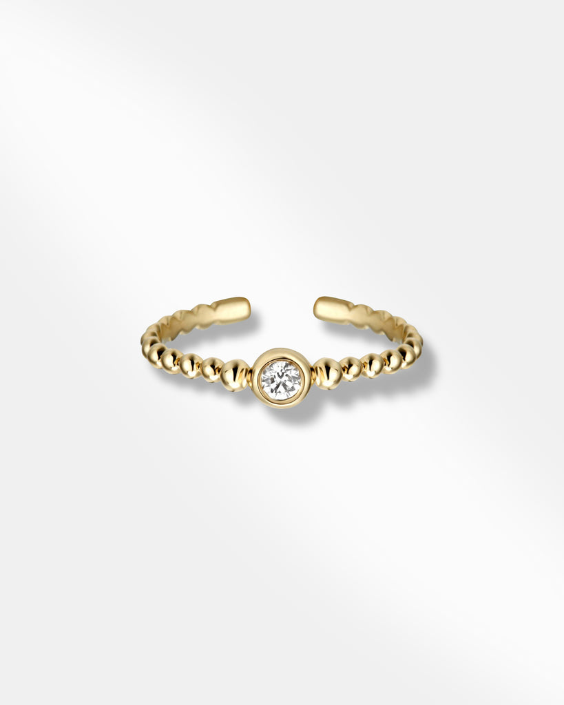 OPEN CUBIC ZIRCONIA GOLD RING