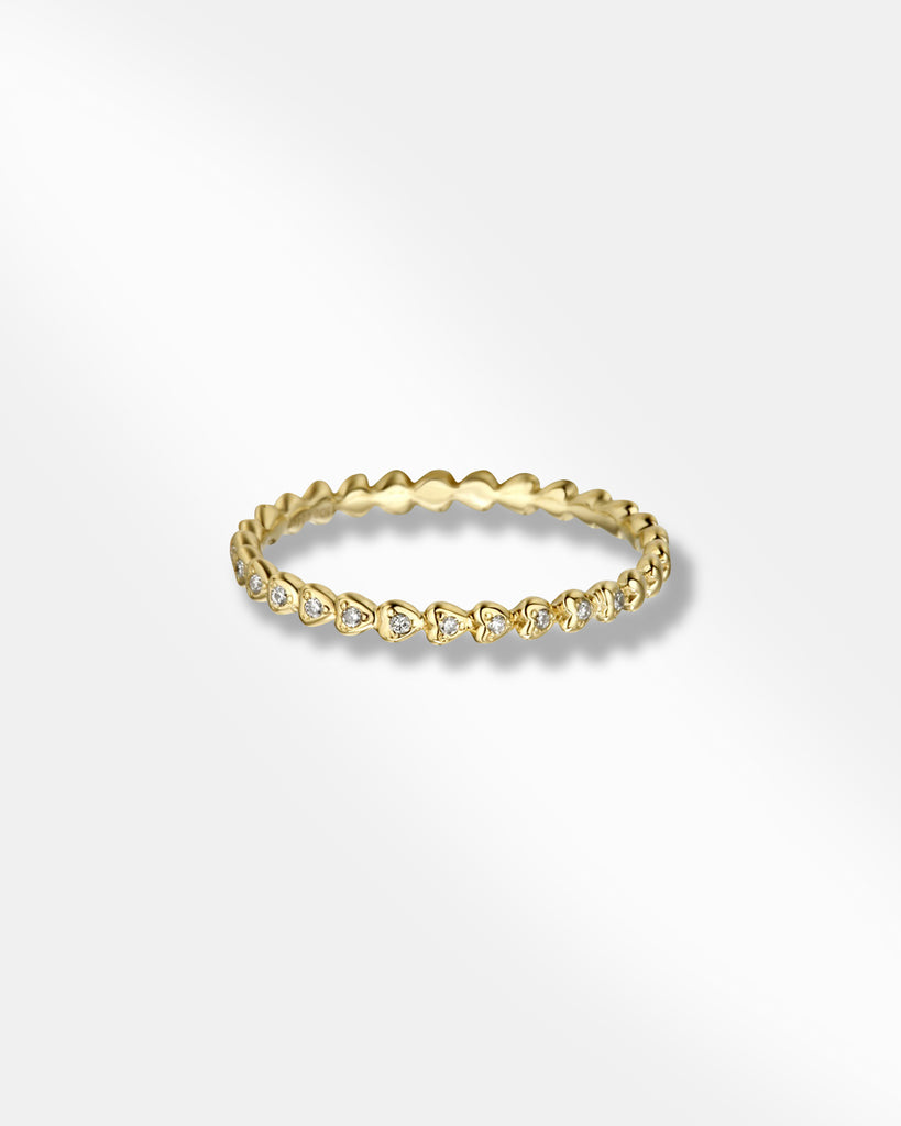 HEART CUBIC ZIRCONIA GOLD RING