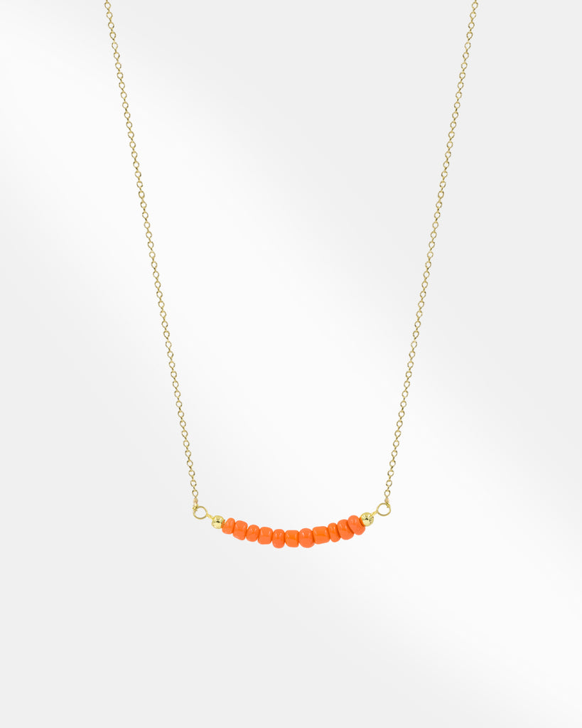 Orange Stone Necklace