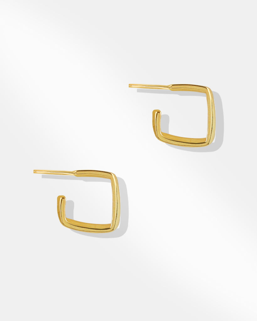 Candy Open Square Hoop Earring