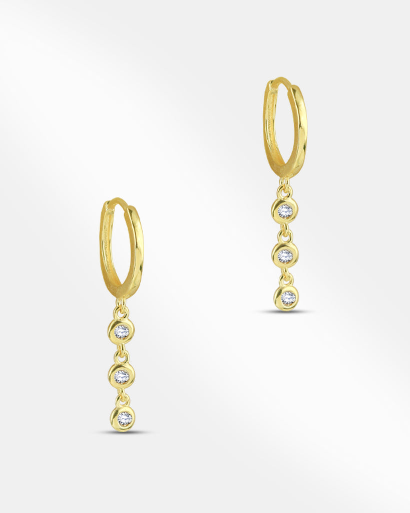 Carmen Drop Huggie Hoop Earrings