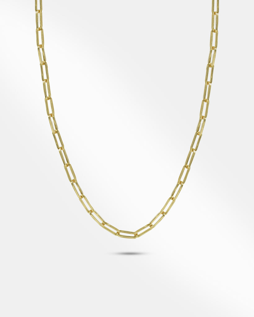 Oval Link Gold Chain