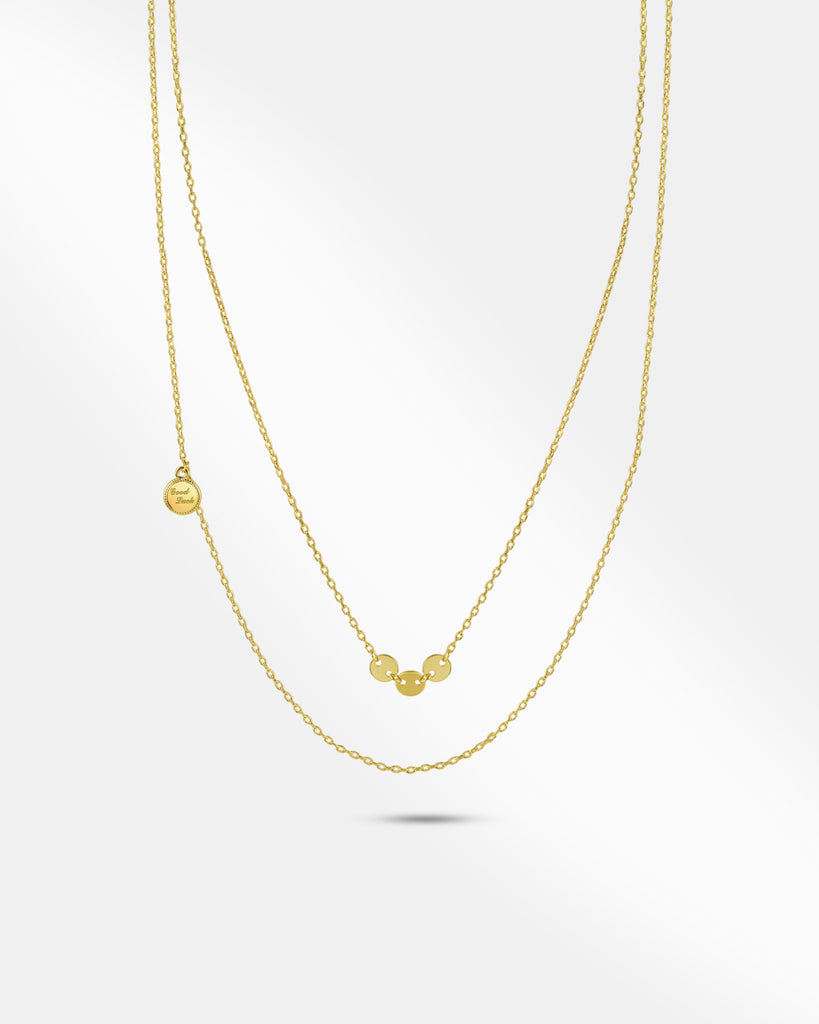 Discs Gold Layered Necklace