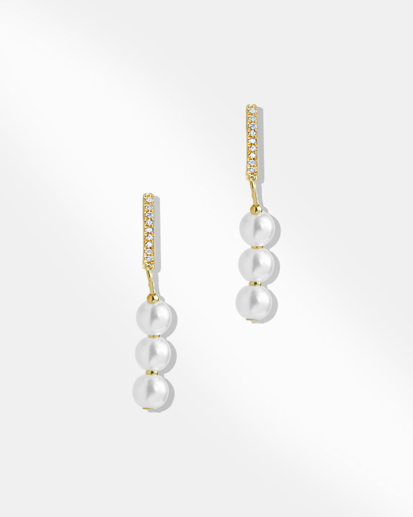 Heather Pearl Drop Earrings