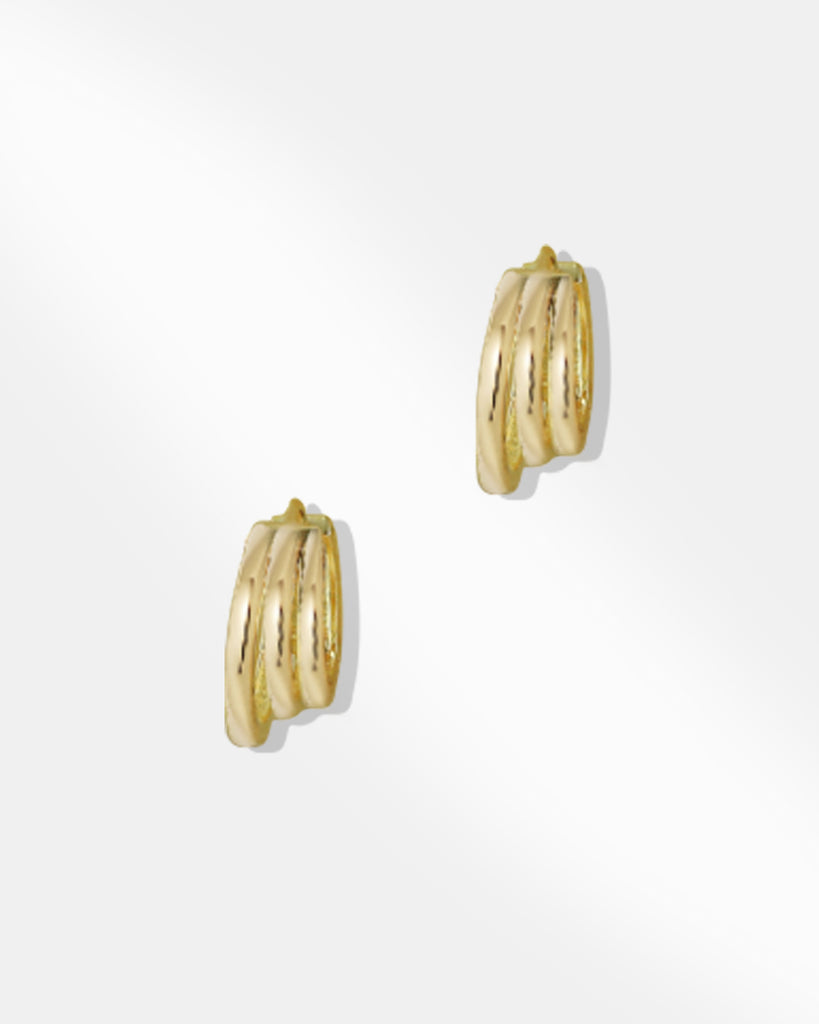 Kelly Three Tier Hoop Earrings