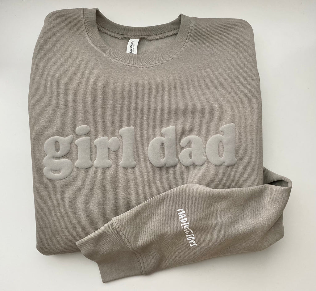 3D girl dad sweatshirt