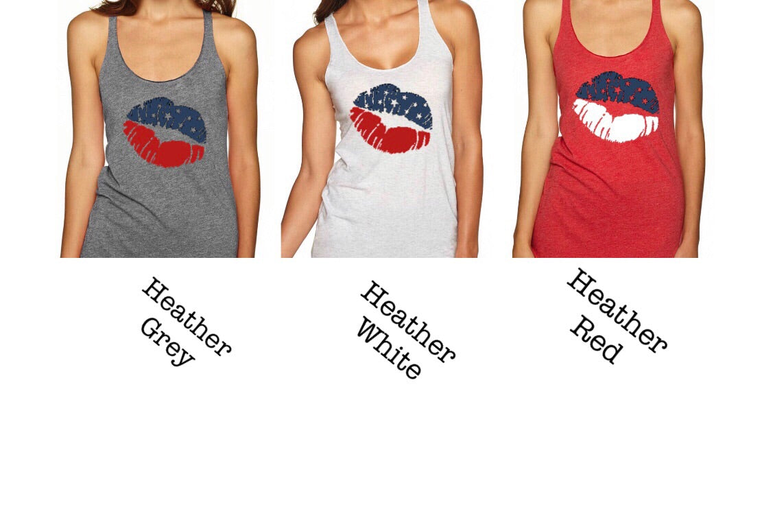 Ladies Triblend Lips Tank